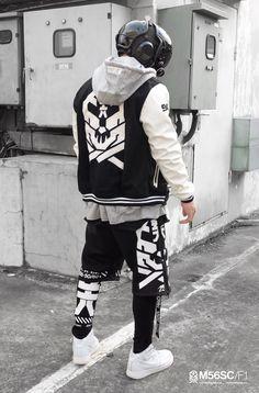 AstromechPunk — Cyberwear from 5060 artists: Cyberpunk Clothes, Cyberpunk Fashion, Dark Fashion, Mens Fashion, Fashion Outfits, Future Fashion, My Outfit, Street Wear, Menswear