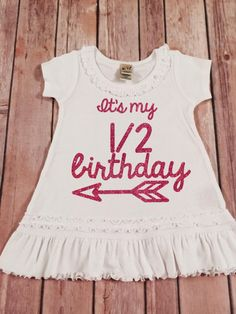 Birthday Outfits Dresses Shirts Half 12th Babies Clothes Gold Dress Handmade Baby My Girl