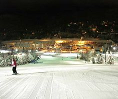 Ski Under the Stars, Quebec Nighttime Adventure: Boasting some of the highest vertical for night skiing in North America, Quebec's Mount-Sainte-Anne lights up nine miles of trails and keeps its lifts open into the evening all winter long for schussing under the stars.