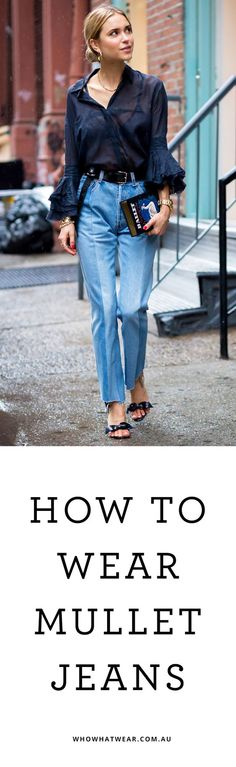How to Style Mullet Ripped Hem Jeans