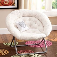 Sherpa Hang-A-Round Chair #pbteen; store had it in chocolate brown