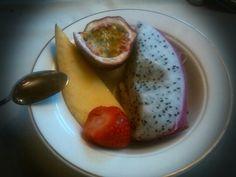 Exotic fruit breakfast @ Cafe de La Paix