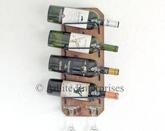 Estante del vino pared montado estante del vino por AdliteCreations