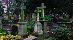 Mossy headstones