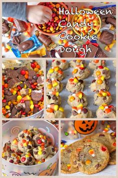 Leftover Halloween Candy Cookie Dough from The BakerMama... brilliant!