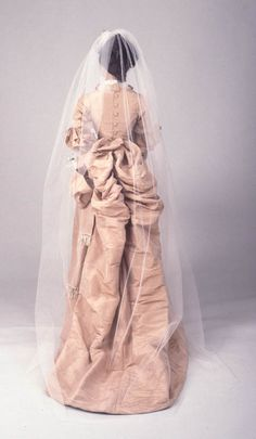Old Rags — Wedding dress, 1874-78 New York, Center for Jewish...