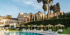 An oasis of calm in the beating heart of Rome In Plan, Town And Country, Oasis, Rome, Travel Tips, Villa, Calm, Mansions, House Styles