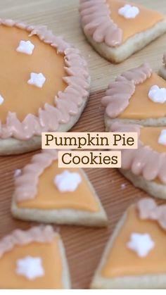 Pumpkin Recipes, Fall Recipes, Sweet Recipes, Holiday Recipes, Simply Recipes, Fun Baking Recipes, Cookie Recipes, Dessert Recipes, Fall Desserts