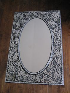 Petal Essence Mirror by Glenys Fentiman  Glenmark Glass Mosaic News