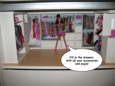 Tutorial for making a truly awesome and detailed barbie wardrobe / closet.