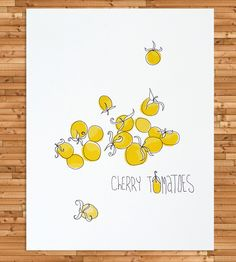 Cherry Tomatoes Art Print | A love of farmers markets and of cherry tomatoes (the two may ... | Posters