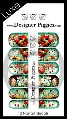 Valentines nail decals by Designer Piggies by CynthiaDesignsStore, $5.00