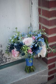 bridal bouquet - blues, pinks    © http://michelleschwartz.zenfolio.com