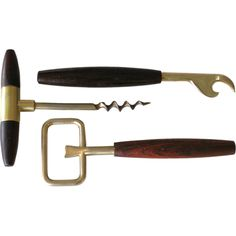 Italian Rosewood & Brass Barware Set, Vintage