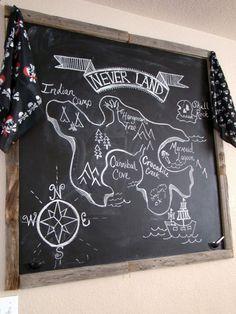 Neverland Island Chalkboard Art