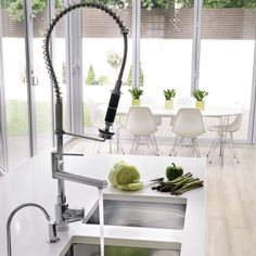 Undermounted sink | Be inspired by a white minimalist kitchen | housetohome.co.uk