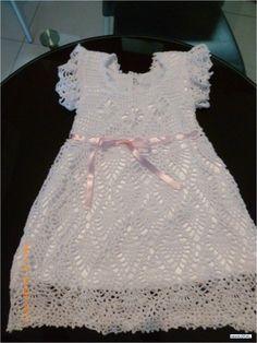 Fotos de Vestido De Bautizo *tejido artesanalmente* 100%
