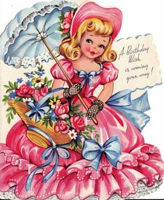 Items similar to Vintage Birthday Card - A Birthday Wish Is Coming Your Way on Etsy Vintage Greeting Cards, Birthday Greeting Cards, Happy Birthday Cards, Birthday Greetings, Vintage Postcards, Birthday Wishes, Birthday Ideas, Happy Birthday Vintage, Vintage Valentines