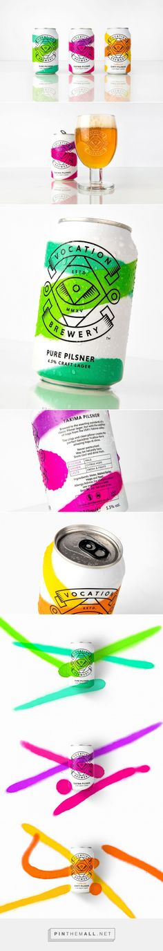 Vocation Brewery - Craft Lager packaging design by Robot Food - http://www.packagingoftheworld.com/2017/03/vocation-brewery-craft-lager.html