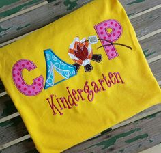 Custom Camp Kindergarten School Shirt by trendyembroidery on Etsy