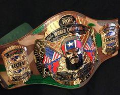 RIng of Honor World Heavyweight Championship belt. (Jay Briscoes belt)