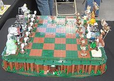 Lego chess board