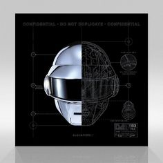 Daft Punk Robot Shematic Lithograph Set