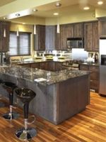 """DIY Redo Your Counter Tops! $79.95. Upgrade Formica, Laminate, Corian, ceramic tile, butcher block, cultured marble, granite countertops & vanities. Kit covers 35 square feet (enough for typical kitchens with 16 foot long x 24"""" wide counters). Quick, fun, easy 'paint-by-number' process. Takes about 4 hours to paint - 16 hours to dry. Water-based, safe, low odor. Hides stains, scratches, burns. Durable automotive grade clear polyurethane topcoat. Kit includes everything including brushes!"""