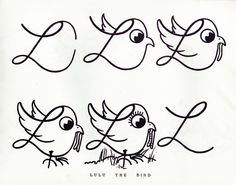 handwriting practice book from 1955 which teaches children how to create letters, as well as turn them into animals - via presentandcorrect. Penmanship is a lost art form Drawing For Kids, Art For Kids, Big Kids, Animal Sketches, Animal Illustrations, Ecole Art, Doodle Inspiration, Letters And Numbers, Cursive Letters