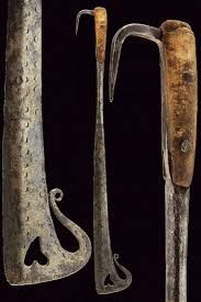 A couple of classic examples of a Waldensian Beidana, both from Piedmont, Italy, ca. Hermitage Museum, Fashion Branding, Blacksmithing, 18th Century, Two By Two, Auction, Italy, Swords, Weapons