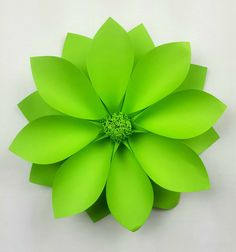 This is a beautiful green individual 30 cm (12 inch) diameter handmade giant paper flower. Use our easy set up instructions available on our website. Mix and match to create your own beautiful design