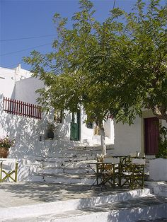 Chora town in Amorgos island, Cyclades, Greece