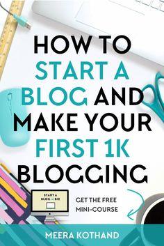 Earn Money Online, Make Money Blogging, Make Money From Home, Way To Make Money, Money Fast, Money Tips, Blogging Ideas, Online Jobs, Quick Money