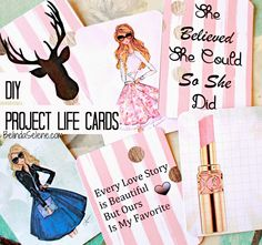 BelindaSelene: DIY Planner Supplies: Journaling Cards, Bow Paper Clips, Tassel Page Markers.