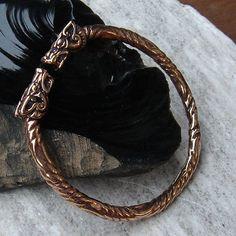 Wikinger Armschmuck Drachen aus Bronze