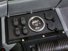 84 - 96 Jeep Cherokee 12 Volt Switch, Gauge & Receptacle Panel