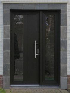 Best Front Doors, Beautiful Front Doors, Black Front Doors, Front Door Entrance, Wooden Front Doors, Door Entryway, House Front Door, Painted Front Doors, Glass Front Door