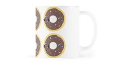 Cute Chocolate glazed donut pattern by Eggtooth