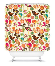 This Little Birds Shower Curtain by DENY Designs is perfect! #zulilyfinds