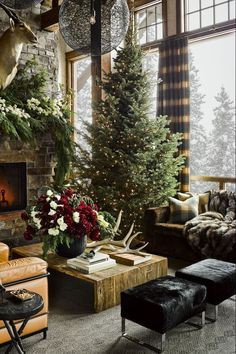 Embrace your tree's arboreal beauty with ultra-minimalist decor that lets the pine speak for itself.