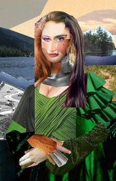 Collage of a Mona Lisa...interesting idea to mix art history with modern art for the classroom