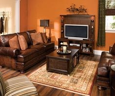 Foster Living Room Collection. Classic Traditional Style. LOVE The Orange  Walls