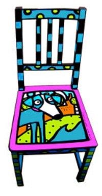Funky Hand Painted Furniture | Hand Painted ... | Chairs that WOW me!