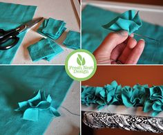 fabric ruffled picture frame