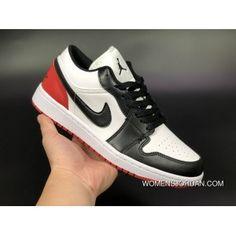 62e2105522d08b Air Jordan 1 Low AJ1 Aj1 Unisex Skateboard Shoes White Black Red New Style