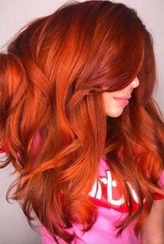 red hair Copper Hair Color Shades: Copper Hair Dye Tips Magenta Hair Colors, Hair Color Shades, Red Hair Color, Cool Hair Color, Red Hair For Cool Skin Tones, Copper Hair Colour, Color Streaks, Red Orange Hair, Bright Red Hair