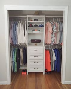 Now this is what we call a beautifully balanced closet! Featured: Impressions; exclusively available at @homedepot Closet and photo by @jocelynmarie401 #DIY #ClosetOrganization #HomeImprovement Home Improvement, Sweet Home, Closet, Out Of The Closet, Storage, Home Depot, Closet Bedroom, Home Decor, Closetmaid