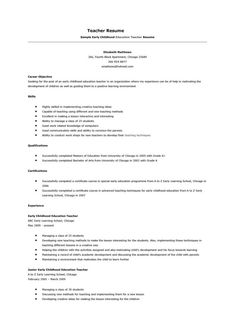 10 Resume Objective for Preschool Teacher 7 Preschool Teacher Resume, Teacher Resume Template, How To Make Resume, Resume Objective, Resume Examples, Printable Worksheets, How To Become, Templates, Education
