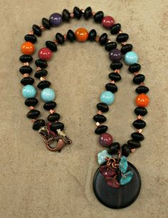 Blooming Colors Necklace by BeadedbySandraMiller on Etsy, $32.00