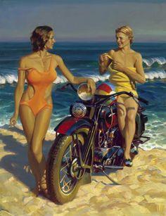 Motoblogn: David Uhl - Fine Art Master and Official Harley-Davidson Motorcycle Artist Gallery 2